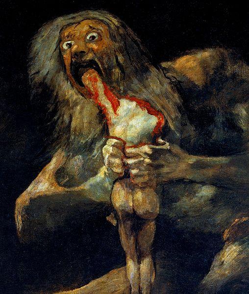 Crono divora suo figlio di Francisco Goya