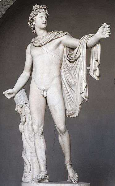 La bellezza divina di Apollo, il cui corpo è considerato il più bello fra tutti gli Dei
