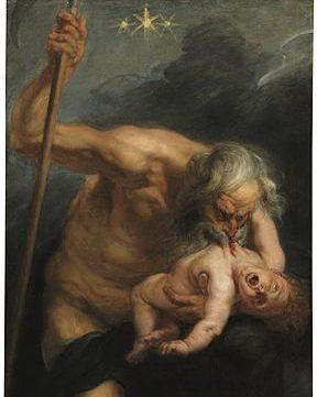 Particolare del quadro Saturno che divora il figlio, Rubens