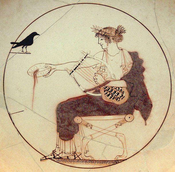 Apollo e uccello nero