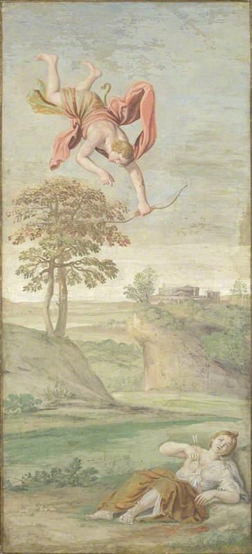 Apollo uccide Coronis, Domenichino