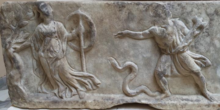 Efesto tenta di violentare Atena