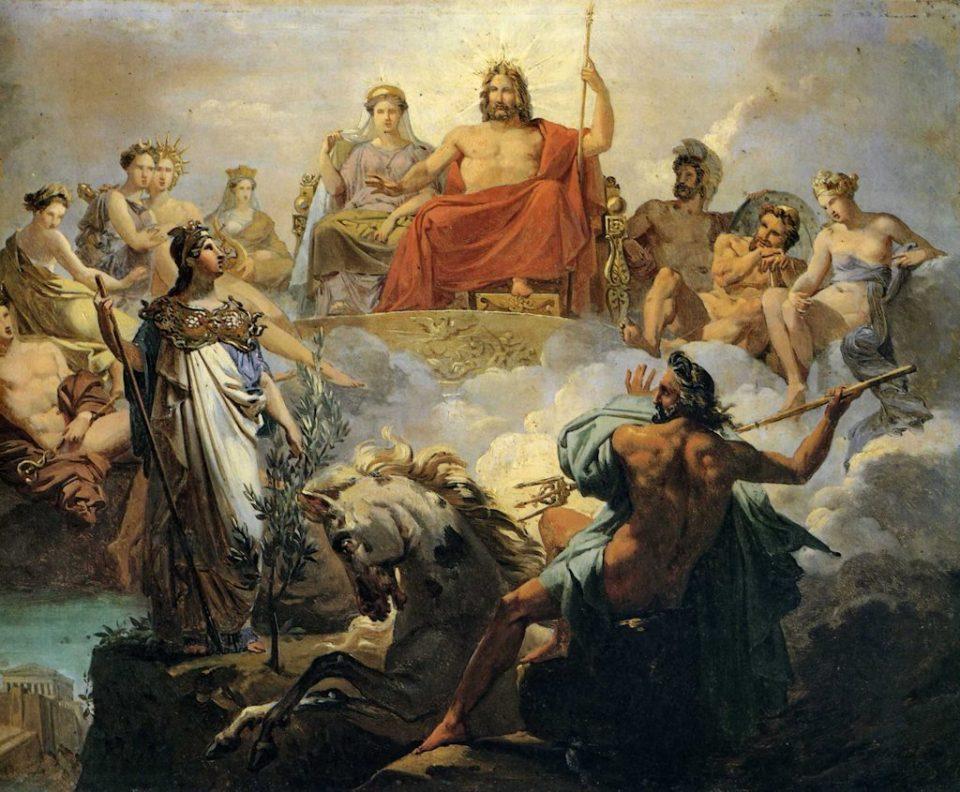 La disputa per Atene di Nettuno e Atena, Blondel