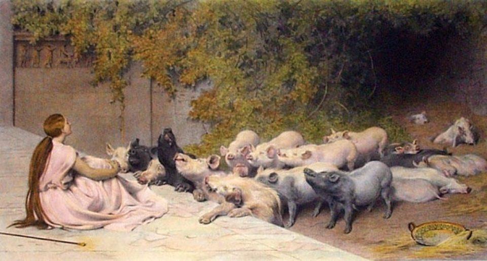 Circe nella mitologia trasformava gli uomini in maiali