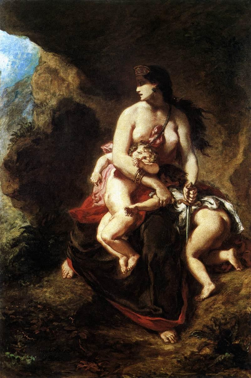Medea, Eugene Delacroix, 1838, Museo di Lille