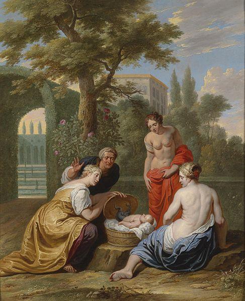 La scoperta di erittonio, Willem van der herp