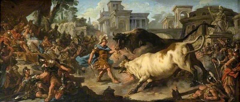 Giasone, Eete padre di Medea e i suoi buoi dorati