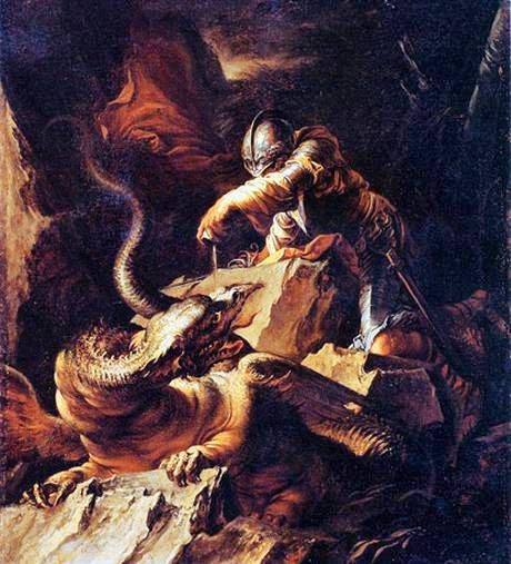 Giasone incanta il drago con le magie di Medea