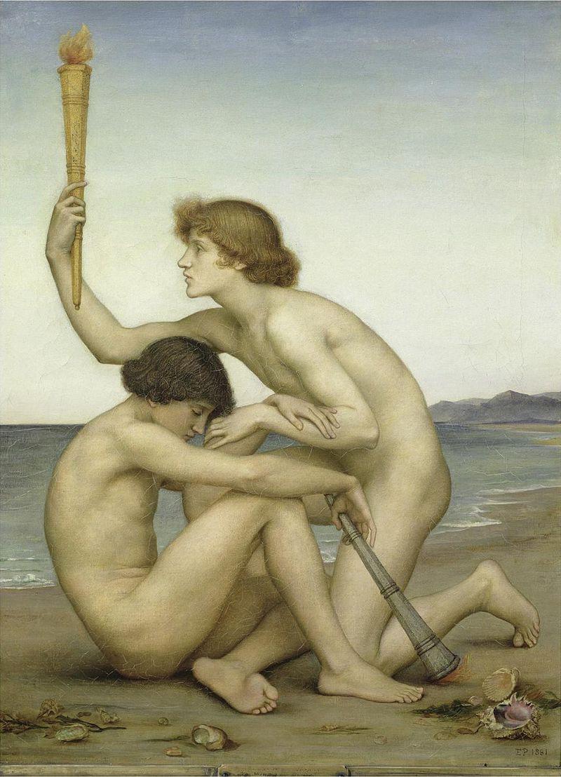 Evelyn de Morgan, Lucifero e Vespro, 1881, De Morgan Centre, Londra