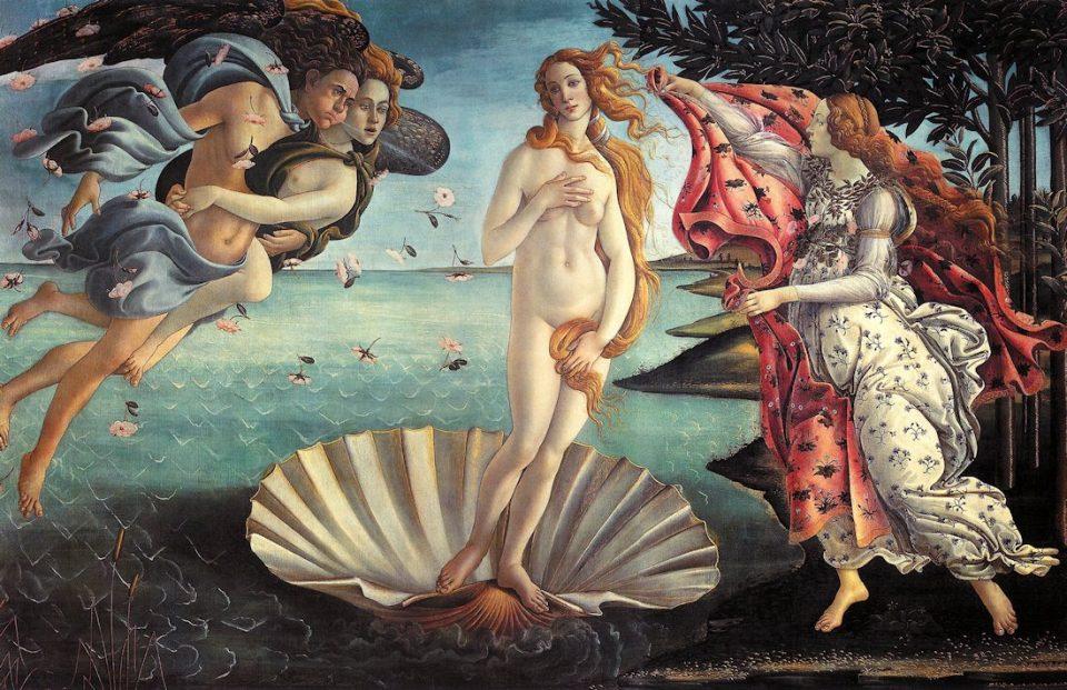 Botticelli, la nascita di Venere, 1485, Galleria degli Uffizi, Firenze