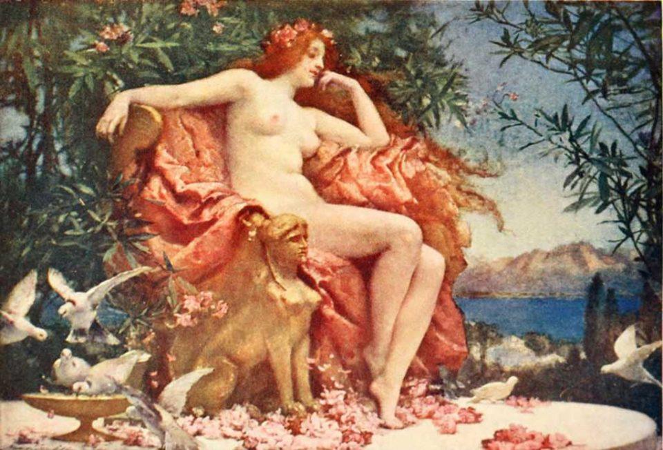 Afrodite dipinta da Henrietta Rae, 1905, Scarborough Museum