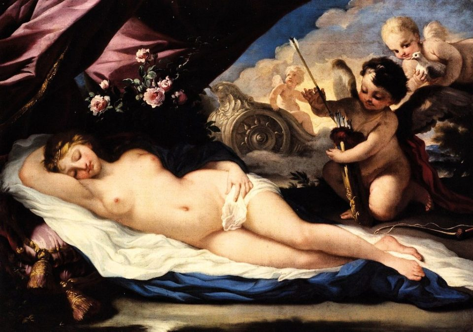 Venere addormentata ritratta da Daniel Seitter, 1700 circa, Galleria d'Arte Antica, Trieste