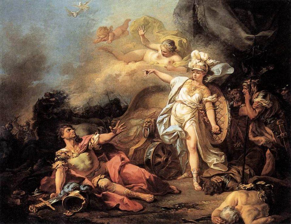Combattimento di Ares contro Atena, Jacques-Louis David, 1771, Museo del Louvre.