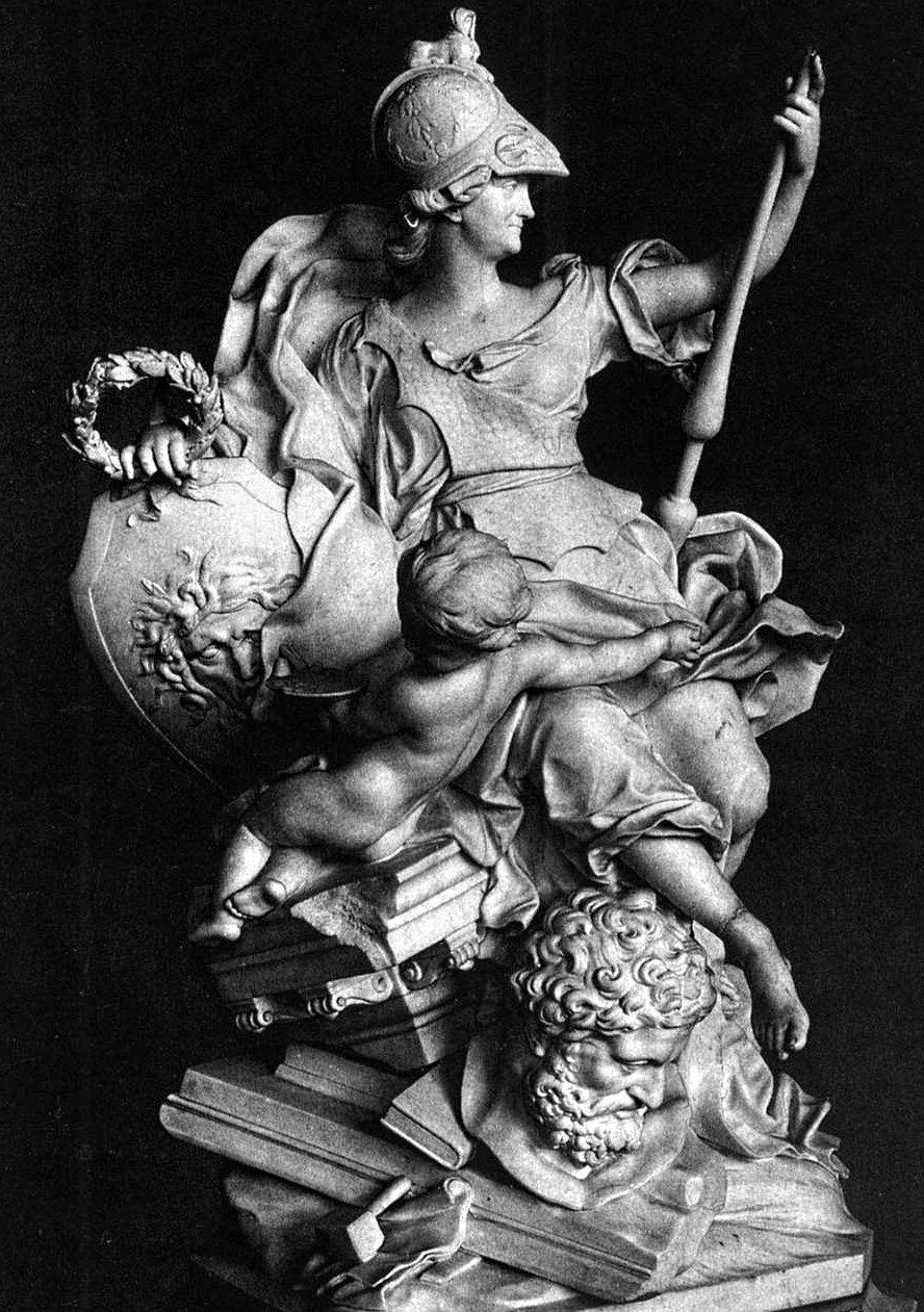 Caterina la grande nelle vesti di Atena