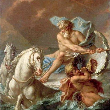 Dettaglio di Nettuno, Etienne Jeaurat, XVIII° secolo, Museo del Louvre, Parigi