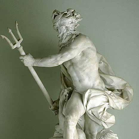 Nettuno calma la tempesta con un tritone al fianco, Lambert-Sigisbert Adam, 1737, Parigi, Museo del Louvre