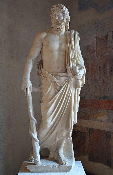 Statua di Asclepio, copia romana da originale greco, Collezione Ludovisi, Palazzo Altemps, Roma