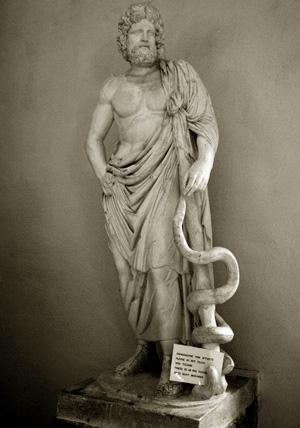 Statua di Asclepio (Museo di Epidauro)