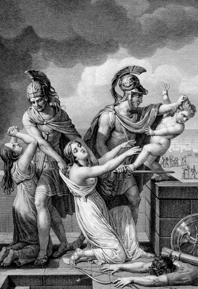 Astianatte ucciso nella mitologia greca
