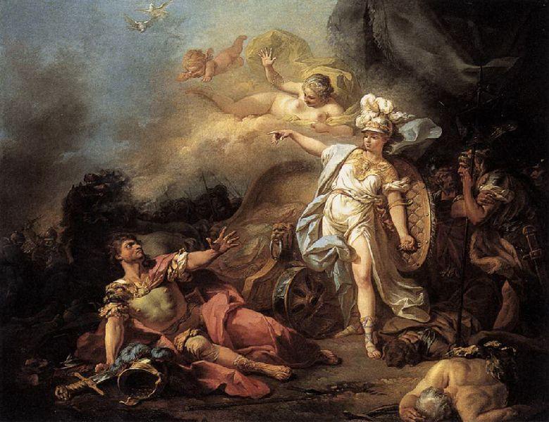 Il combattimento fra Atena e Ares