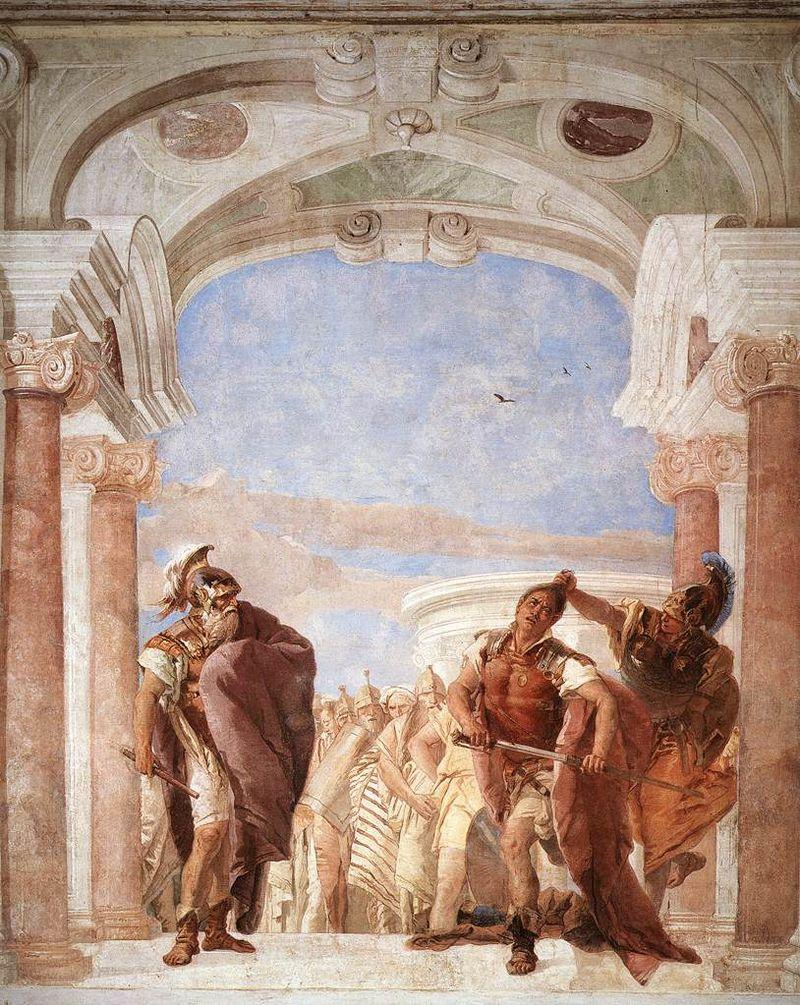 Atena impedisce ad Achille di uccidere Agamennone