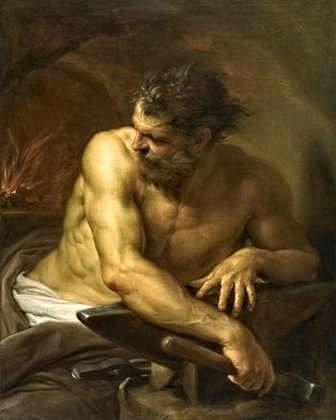 Pompeo Batoni, Vulcano (Efesto) alla forgia, 1750, Museo delle belle arti diOttawa