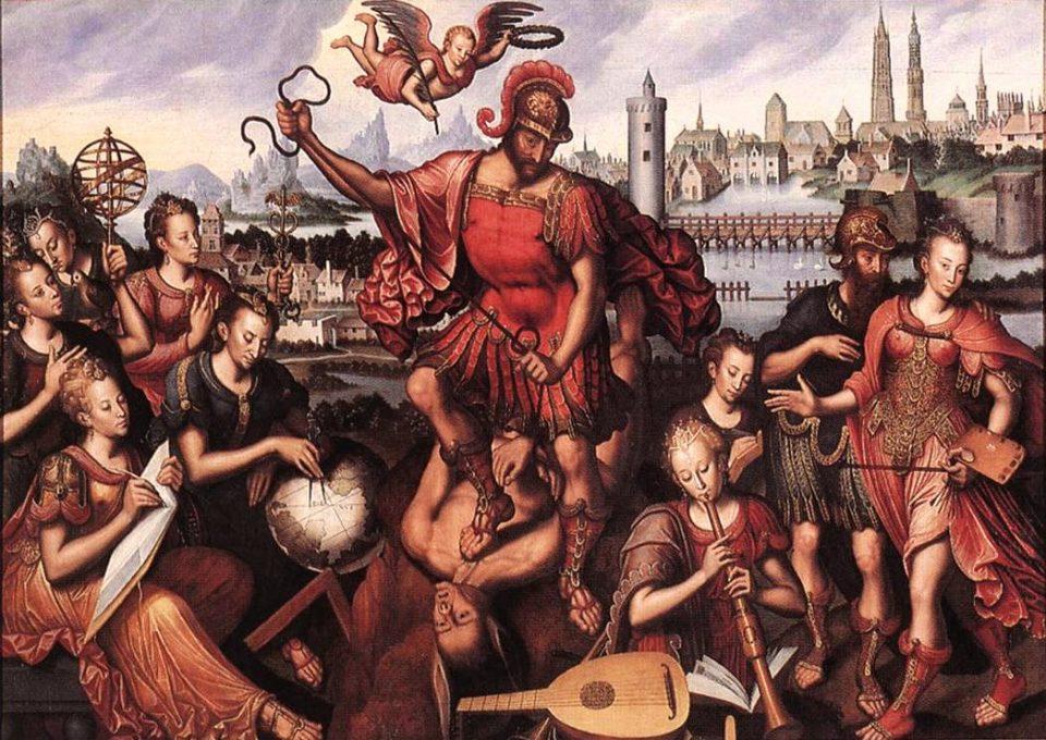 Antoon Claeissens, Marte vince l'Ignoranza, 1605, Groeninge Museum, Bruges