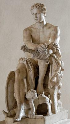 Statua di Marte, Museo nazionale romano, palazzo Altemps