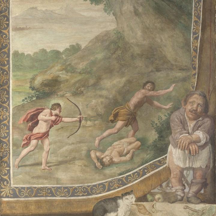 Apollo uccide i Ciclopi, affresco di Domenichino e assistenti oggi conservato alla National Gallery di Londra