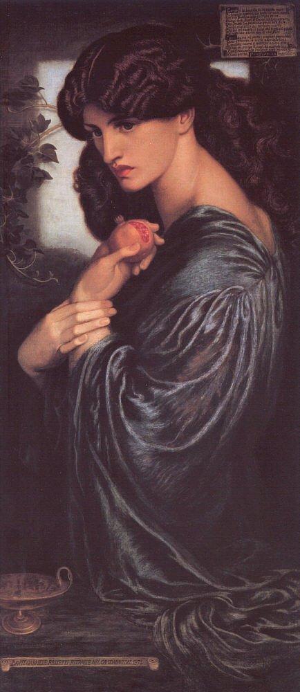 Persefone rappresentata da Dante Gabriel Rossetti