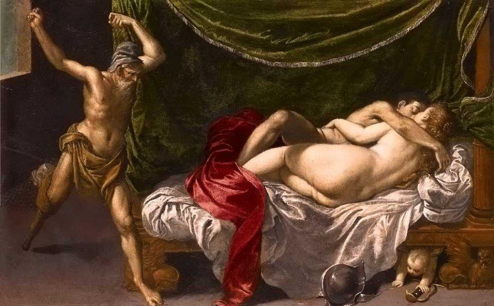 Hans Rottenhammer, Vulcano sorprende Marte in compagnia di Venere, 1590