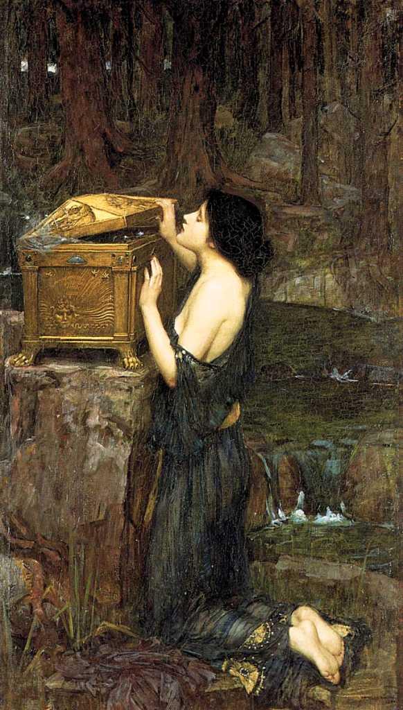 Pandora dipinta nel 1896 da John William Waterhouse