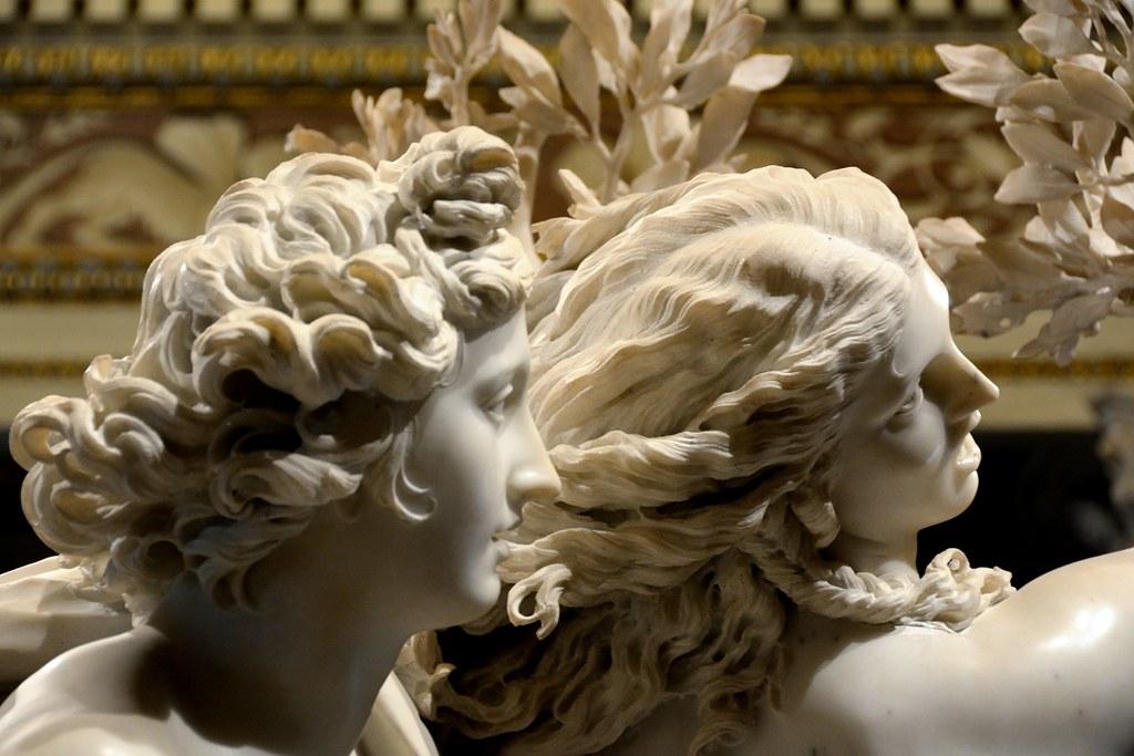 Particolare della statua su APollo e Dafne realizzata da Bernini
