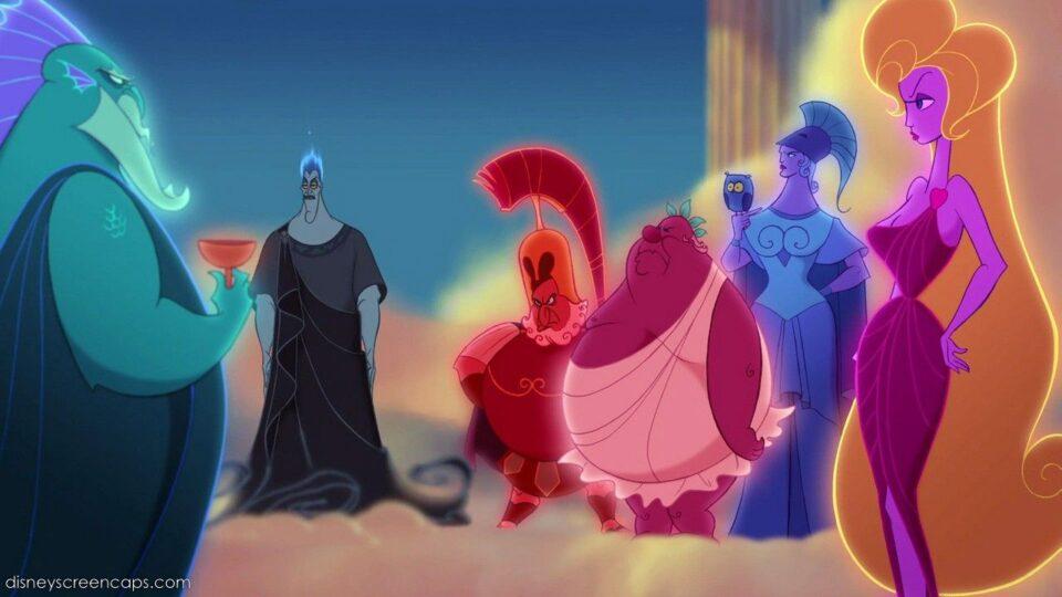 Gli dei Olimpi non gradiscono l'arrivo del cattivo Ade alla festa.