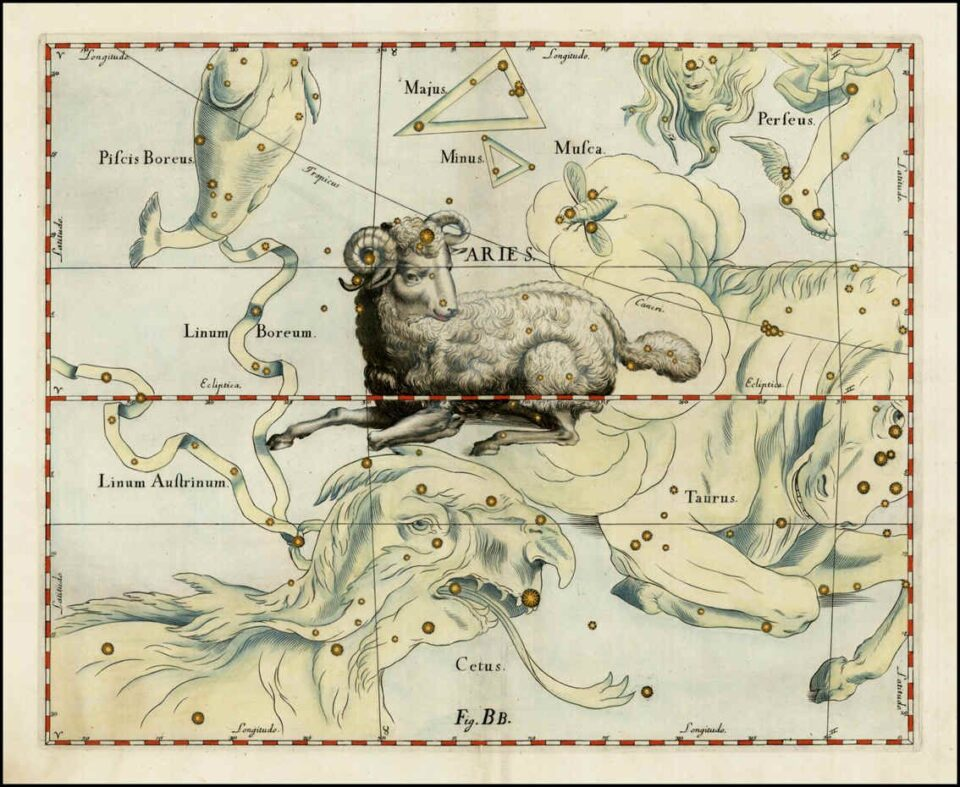 Un'altra illustrazione della costellazione dell'Ariete