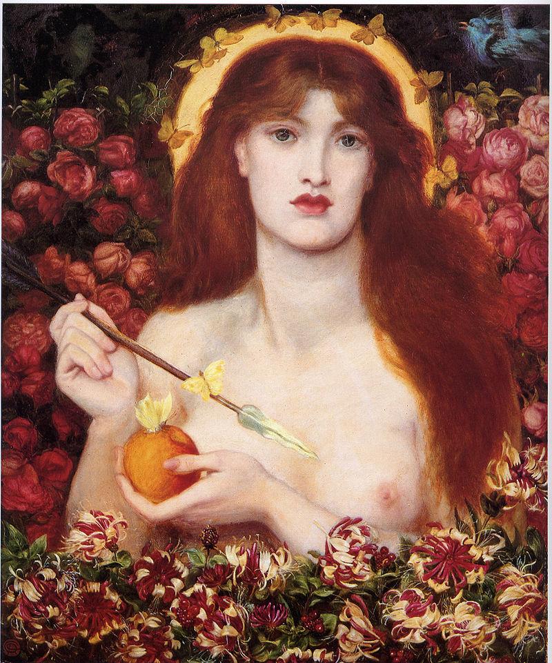Venere Verticordia di Dante Gabriel Rossetti (1828-1882) pittore Pre-Rafaelita inglese