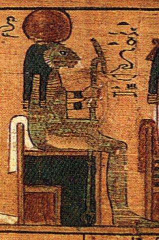 La Dea Tefnut rappresentata nel libro dei Morti
