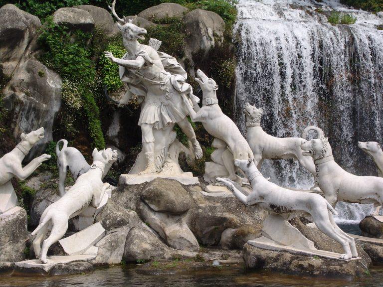 Particolare della fontana di Atteone e Diana