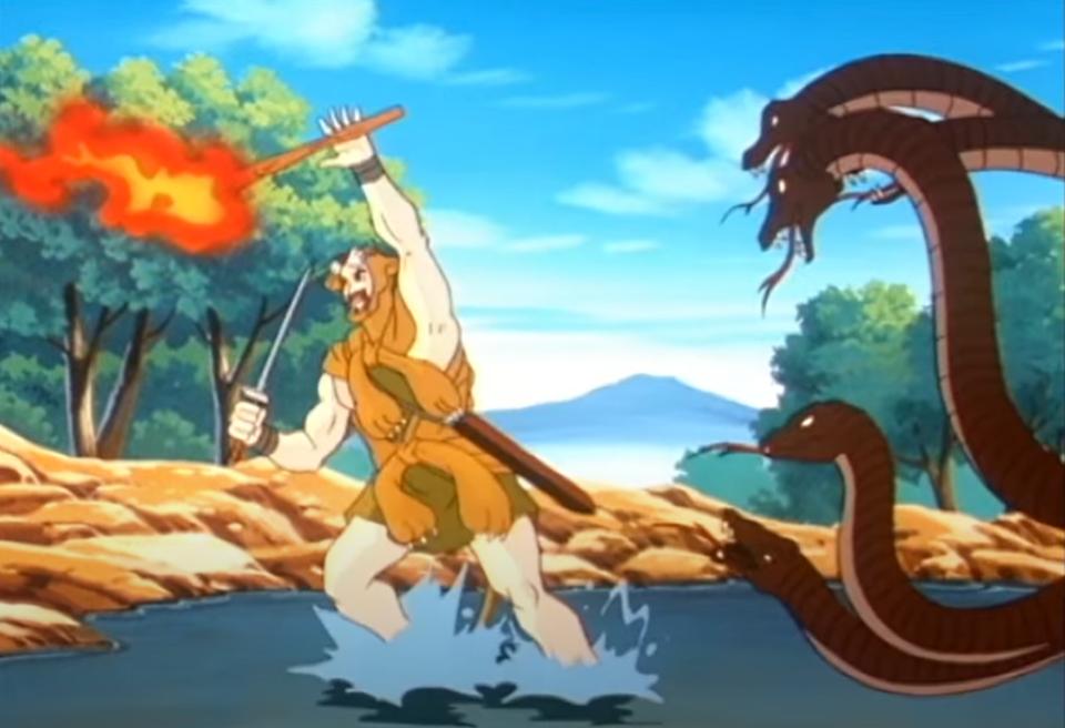 Ercole combatte l'idra