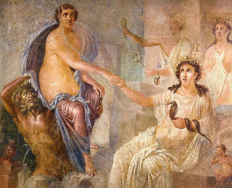 Iside accoglie Io in Egitto, da un affresco di Pompei, I secolo A.C.