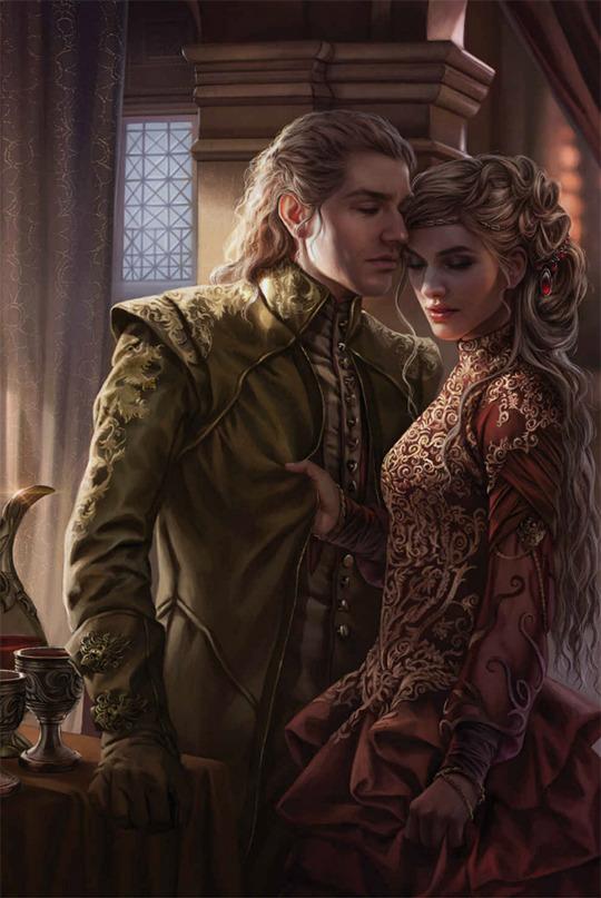 Jamie e Cersei in una art ufficiale del Trono di Spade