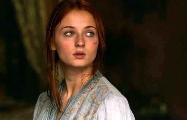 Sansa Stark tenuta ostaggio dai Lannister  in una scena del telefilm, come persefone nella mitologia