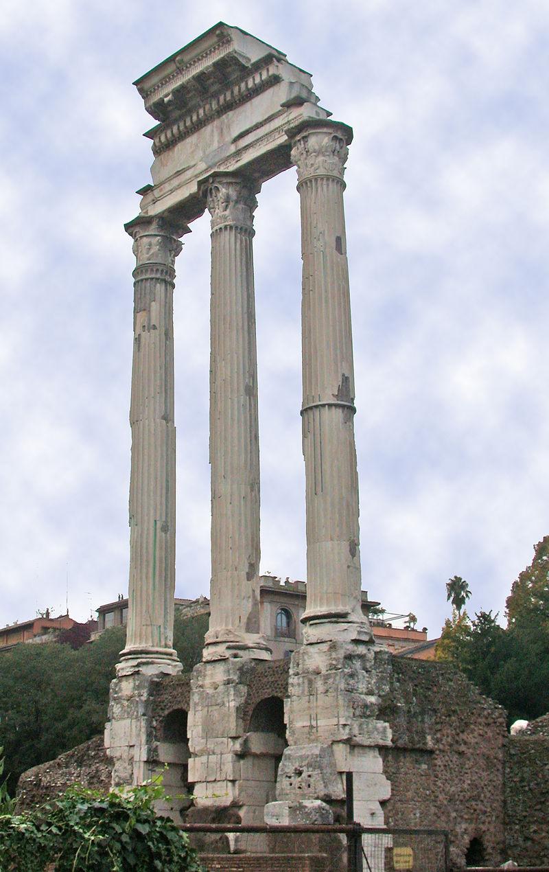 Resti del tempio dei Diòscuri a Roma