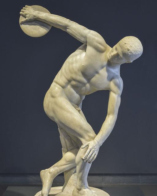 Il Discobolo (dettaglio), copia romana di originale greco di Mirone