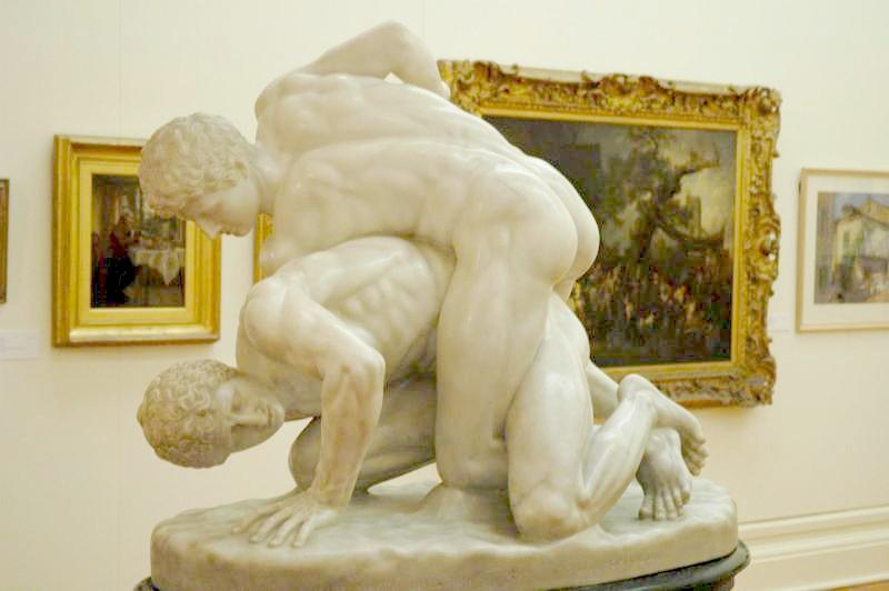 Lottatori, copia romana in marmo da originale greco perduto, Galleria degli Uffizi, Firenze